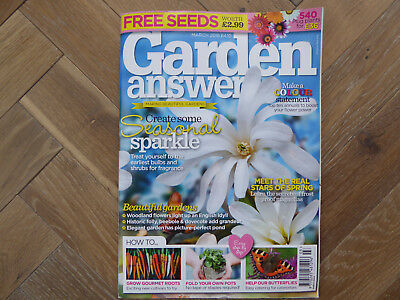 Garden Answers Magazine - March 2018 Excellent Condition & Includes Free Seeds