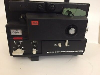 ELMO ST 600 2 TRACK SUPER 8 SOUND PROJECTOR Powers up perfectly! Make an offer