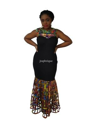 African Print Multicolored Traditional Occasion/Prom/Wedding Dress