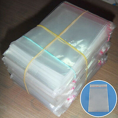 FX- 200Pcs Clear Plastic Bag Self Adhesive Seal Fit Jewelry Gift Bag Big Sale