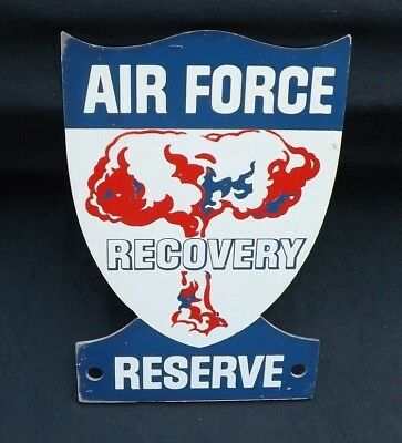 Original Air Force Nuclear Atomic Bomb Recovery Reserve Sign  W Mushroom Cloud