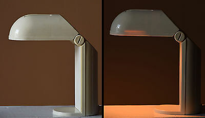 Lampada Anni 70 Space Age Bianca Isao Hosoe Vintage Design Table Lamp