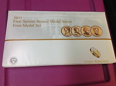 2011 FIRST SPOUSE BRONZE MEDAL SERIES - Four MEDAL SET 5th YR. ISSUE BY U.S MINT
