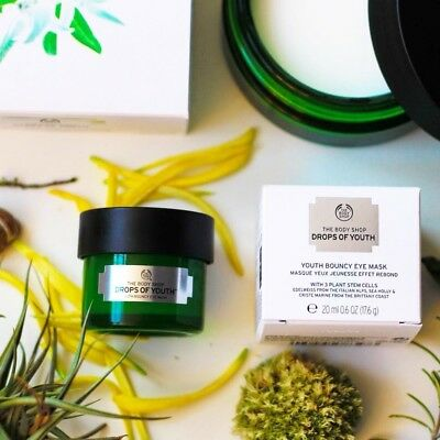 New Vegetarian The Body Shop Drops of Youth Youth Bouncy Eye Mask Anti-aging