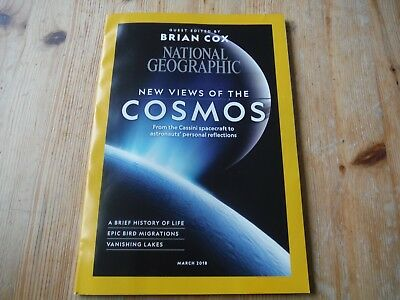 National Geographic March 2018, Cosmos views, Bird Migrations, Vanishing Lakes