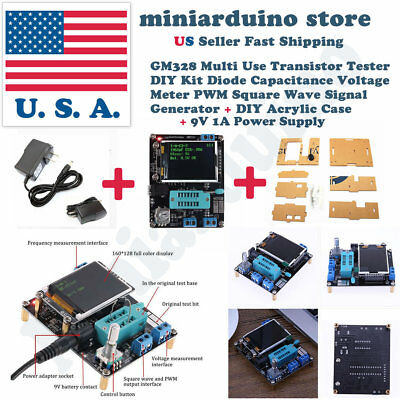GM328A LCD Transistor Tester Voltage Diode Capacitor LCR Meter with Acrylic Case