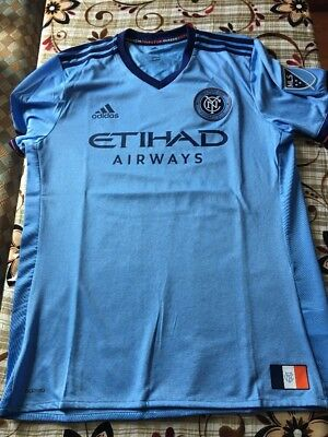 8b4d370ad80 Adidas New York City FC SS Home Authentic 2018 Jersey AY6984 Men's Size (L)