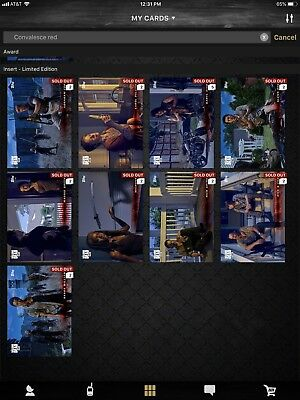 Topps Walking Dead Digital Convalesce Red Variant Complete Set With Award