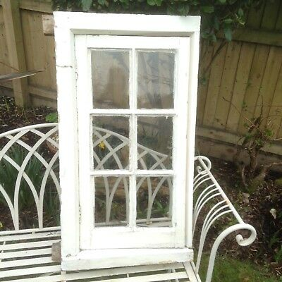 Georgian-style solid wood hinged window and frame.
