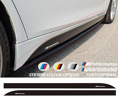For BMW 3 M PERFORMANCE Side Skirt VINYL STICKER F30 F31