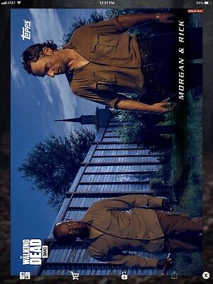 Topps Walking Dead Digital Blue Convalesce Set Complete With Award