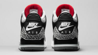 separation shoes 00f7e c3815 2018 NIKE AIR Jordan 3 III Retro OG Black Cement Mens Size 7. 854262-001