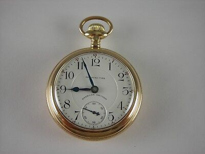 Antique VERY RARE 18s Waltham Railroad Time 17 ruby jewel pocket watch. 1898