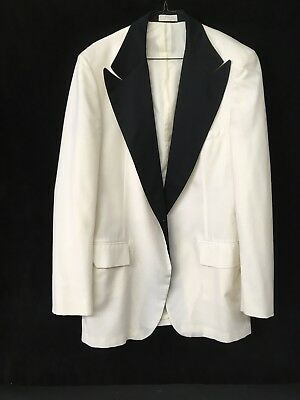 Men's After Six White Tuxedo Coat size 41 extra long