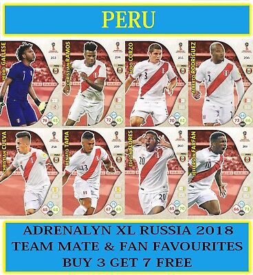 Panini Adrenalyn XL FIFA World Cup 2018 Russia - Choose your PERU team cards