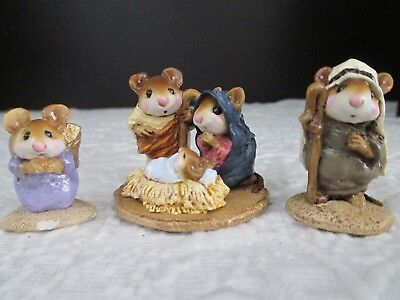 Wee Forest Folk Pageant Christmas Nativity MICE, PAGEANT SHEPHERD, FREE ANGEL
