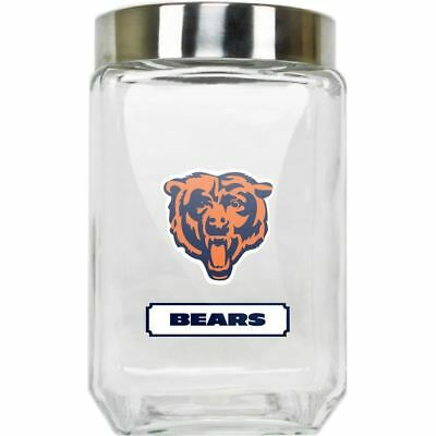 Chicago Bears Glass Canister NFL Cookie Jar Large Duck House