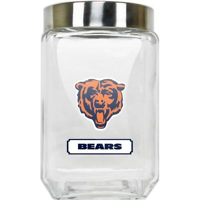 Chicago Bears Jar Glass Canister Large Container With Lid Duckhouse NFL