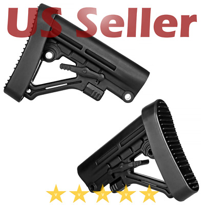 Trinity Force Polymer Omega LE Style 6 Position Mil-Spec Rifle Butt Stock Black