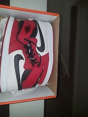 Mens Air Jordan 1 Chicago Bred Canvas 10.5 Black Red VNDS