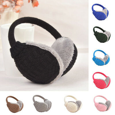 AL_ Cozy Design Fluffy Winter Adjustable Earwarmers Knitted Warm Ear Muffs Splen