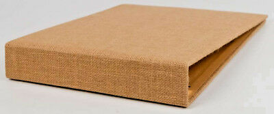 American Craft DCWV Burlap 12x12 Scrapbook Album 3 Ring Binder 10 Refill Pages