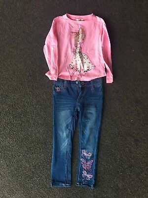 Brand New Jeans and Top from Myer, Size 4, Girls Clothing