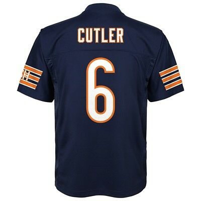 Jay Cutler NFL Chicago Bears Mid Tier Home Navy Player Jersey Youth (S-XL)