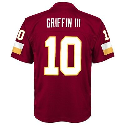 Robert Griffin iii NFL Washington Redskins Mid Tier Maroon Jersey Youth (S-XL)