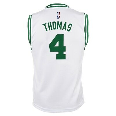 release date 85bea 06241 ISAIAH THOMAS NBA Boston Celtics Home White Player Replica Jersey Youth  (S-XL)
