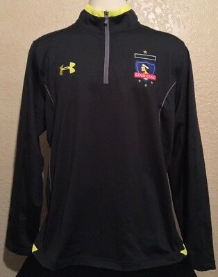 NWT Under Armour Men s 2XL 1 4 Zip Colo Colo Pullover Track Jacket Chile  Soccer 492504a56
