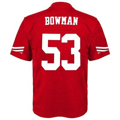 NaVorro Bowman NFL San Francisco 49ers Mid Tier Home Red Jersey Youth (S-XL)