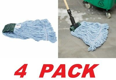 ACS Blue Blended Loop End Cotton Synthetic Mop Head ~ Medium (4 PACK) NEW