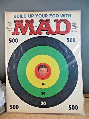 Vintage Mad Magazine Full Issue 71 June 1962 Alfred E Neuman Target Cover Mad-2