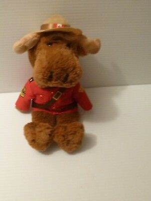 "RCMP Royal Canadian Mounted Police Sergeant Moose Plush 12"" OriginaL"