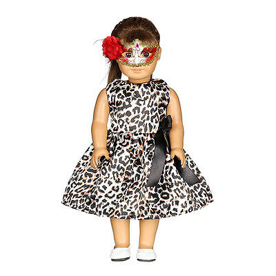 Lovely Leopard Print Dress For 18 Inch Doll Toy Kid Gift Clothing, 2018 NEW