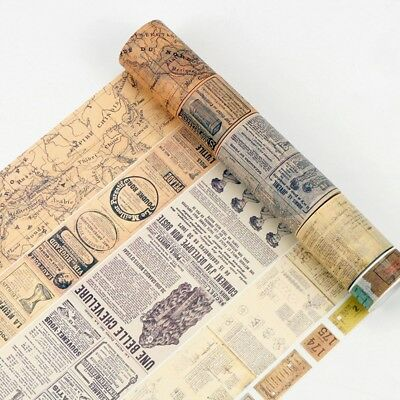 Vintage Map Ticket Washi Tape Paper Sticky Adhesive Sticker Paper Decorative,NEW