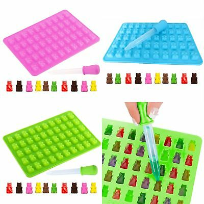 50 Cavity Silicone Gummy Bear Chocolate Mold Candy Maker Ice Tray Jelly Mould EU