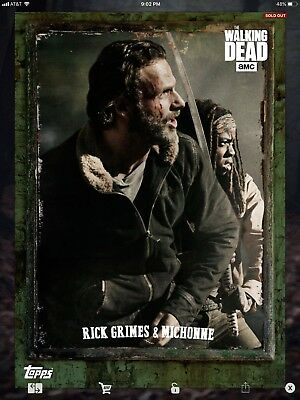 Topps Walking Dead Digital Outlast Green Set With Award