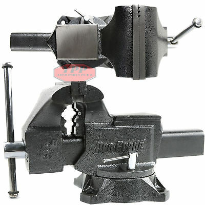 "6"" Pro-Grade 59115 Heavy Duty Swivel Bench Vise Woodworking Machine Repair Tool"