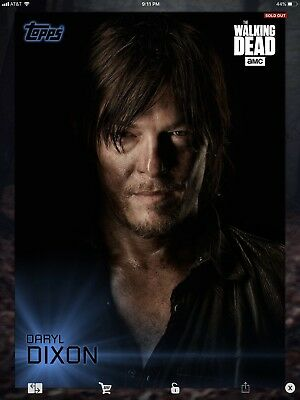 Topps Walking Dead Digital Shadow Portraits Blue Set With Award