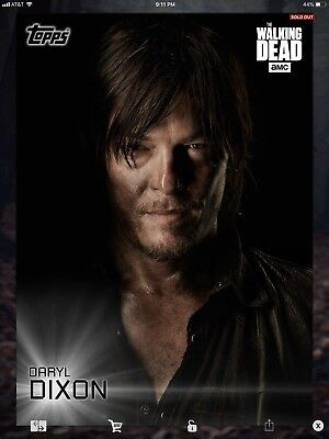 Topps Walking Dead Digital Shadow Portraits White Set With Award