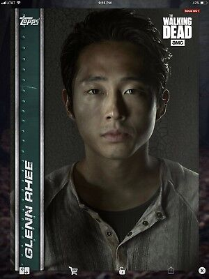 Topps Walking Dead Digital Undaunted Teal Set With Awards