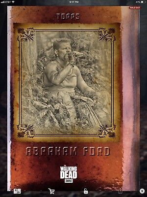 Topps Walking Dead Digital Time Out Set With Award