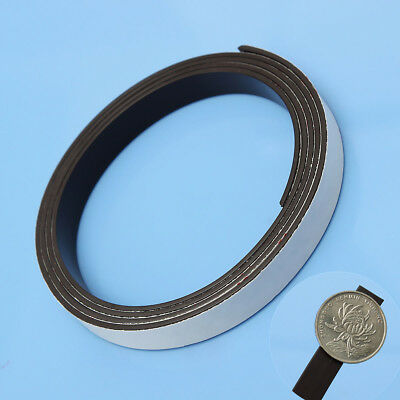 5M 1.5mm Rubber Self Adhesive Magnetic Stripe Flexible Magnet DIY Strip Tapes