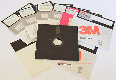"""2x 5.25"""" inch Floppy Disc for Retro Vintage Computer Systems Low Density DS/DD"""