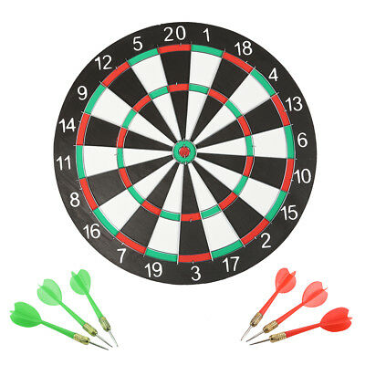 "14"" dart board game Dart Board Dartboard 6 Darts Party Game Toy Playset"