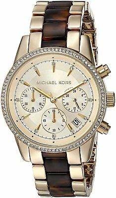 aa788699a814 Michael Kors Women s MK6322  Ritz  Crystal Stainless steel and Acetate Watch