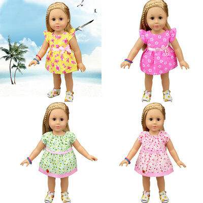 Lovely Doll Dress Clothes Fit 18 Inch American Girl 43cm Baby Born Zapf Doll Va