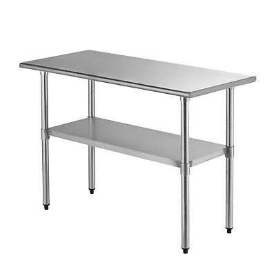 "SUNCOO Commercial Stainless Steel Work Food Prep Table Kitchen 24"" x 48"""